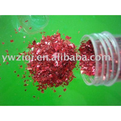 Laser Red glass glitter powder for crafts decoration