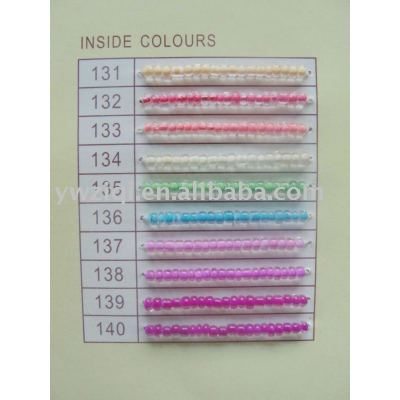 Inside colors glass seed beads for jewelly