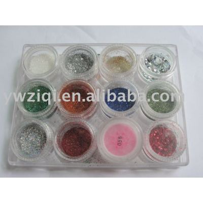 Fine glitter powder with shaker for cosmetic