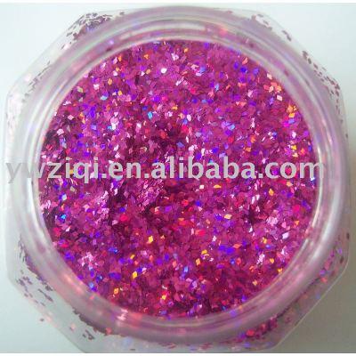Hologram purple color holiday decoration glitter powder