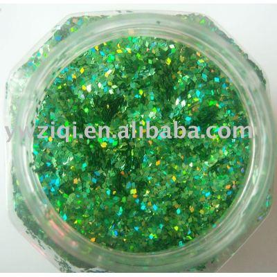 green PET glitter powder