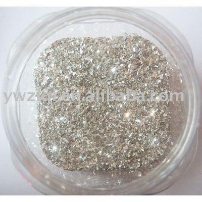PET glitter glass fragment