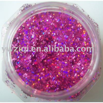 hexagon PET glitter powder for nail art