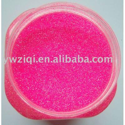 pink iridescence glitter powder