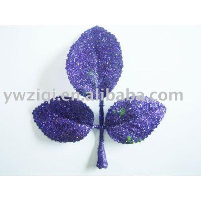 glitter powder spray on artiflower decoration