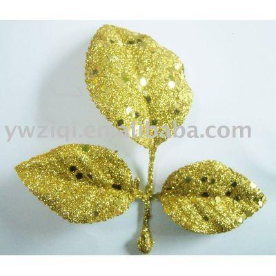 Hexagon gold color glitter powder for glitter crafts