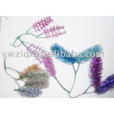 glitter powder decorating for Christmas tree decoration