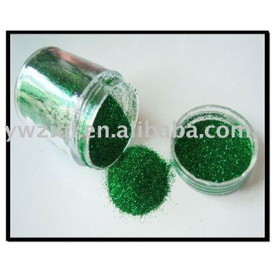 green color glitter powder glitter crafts