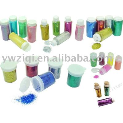 glitter powder with bottle