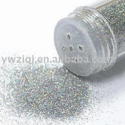 B04 silver glitter powder in shaker