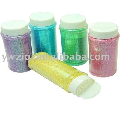 glitter powder packed in bottles and glitter shaker