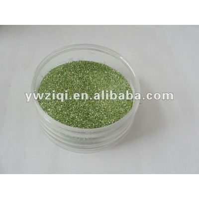 Laser green embossing glitter powder for greeting cards DIY