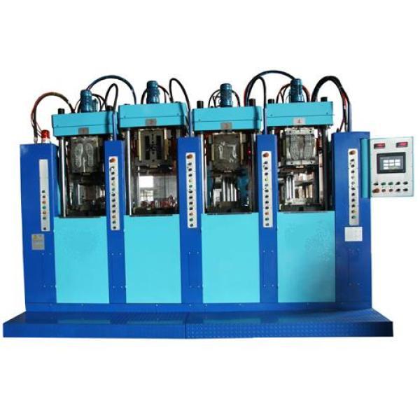 Cuatro estaciones de dos inyecciones plásticas moldeado máquinas LR-T0402-D