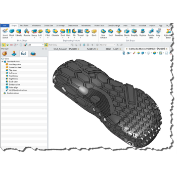 Advanced technology 3D shoe sole design software