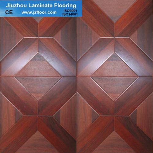 12mm square parquet uinlin laminate flooring china for Square laminate flooring
