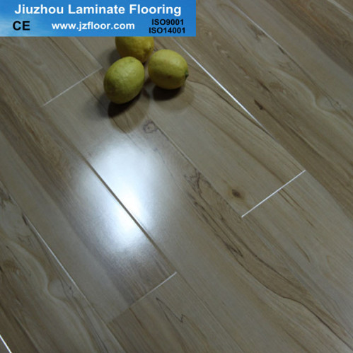 12mm easy lock u groove glossy laminate flooring china for Easy lock laminate flooring