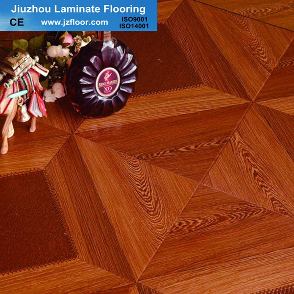 12mm square parquet new design laminate flooring china for Square laminate floor tiles