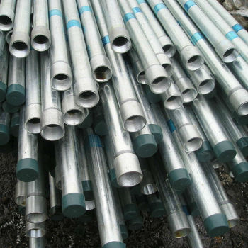 pre galvanized steel pipe with threaded end and socket