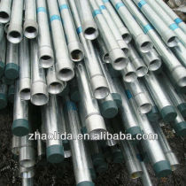 ERW threaded Galvanized conduit or Water Steel Pipe with socket