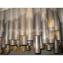 ERW black steel pipe ASTM A53 GrA/B ends protected with PVC cap
