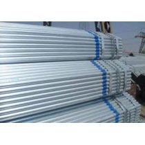 Hot dipped galvanized steel pipe / coupling threaded plastic caps / BS1387 Galvanized steel pipe