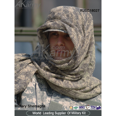 Camo Arab Poly/Cotton Shemagh/Scarf