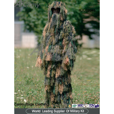Easily disguise camouflage military ghillie suit
