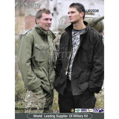 Nylon/Cotton M65 Field Jacket (Olive green/black/camo)