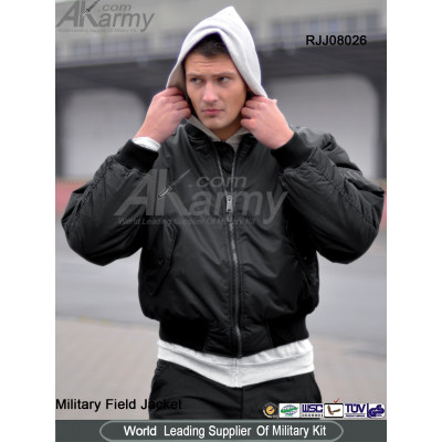 Poly Black Military MA1 Jacket