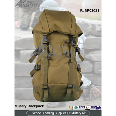 Khaki Military Backpack with Cover