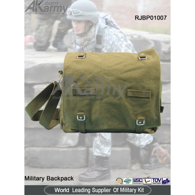 Drab Green Polyester Canvas Military Backpack