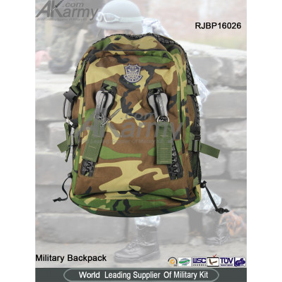 Woodland Big Zipper Military Backpack