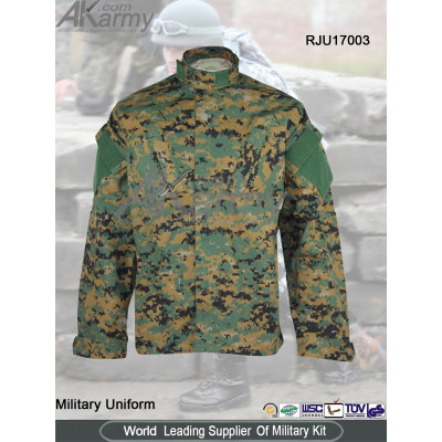 American Digital Woodland Camouflage  Poly / Cotton Ripstop ACU Coats