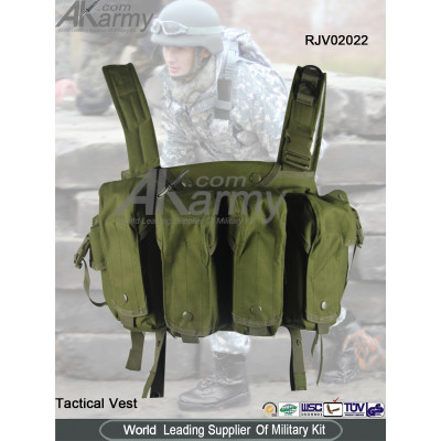 Canvas Olive Military Tactical Vest