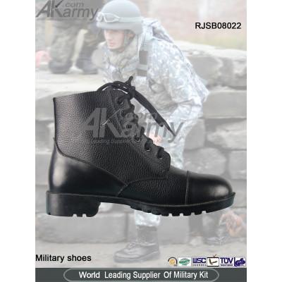 Midi Black  Military Boots