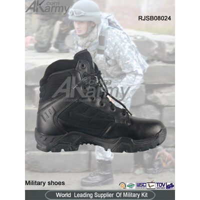 Black Military  Ankle Boots