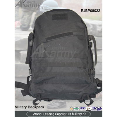 Black 3-Day Tactical Backpack