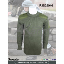 Military olive commando sweater army combat pullover