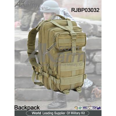 Khaki Tactical Backpack 3P Assault Pack