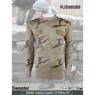 Tactical sweater military pullover camo jersey mens wool sweater