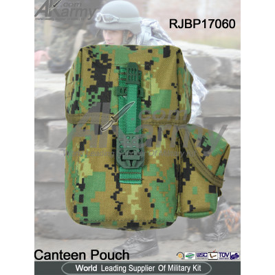 1000D Nylon Military Canteen Pouch For Tactical Vest