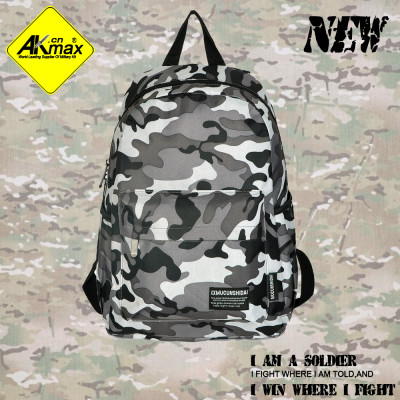 Akmax Camouflage backpack school casual bag free shipping