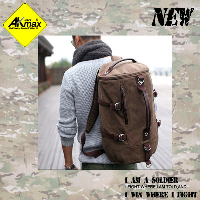 Akmax  canvas travel bag mountaineering packet travel or daily life use