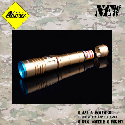 Akmax tactical flashlight outdoor electric torch