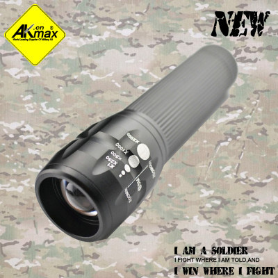 Akmax high quality  portbable flashlight  tactical  flashlight
