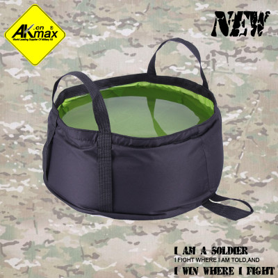 Akmax water container folding bucket lavendered camping bucket