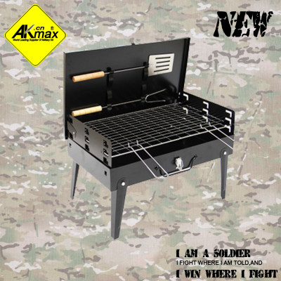 Akmax  BBQ oven grill light portable suitcase furnace