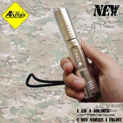 Akmax LED light outdoor flashlight strong  straight outdoor light