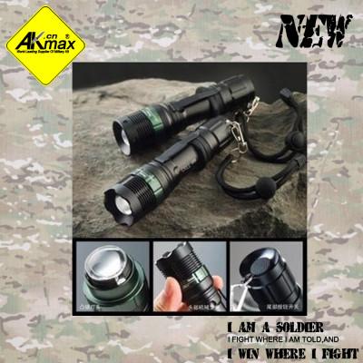 Akmax tactical flashlight strong light outdoor flashlight