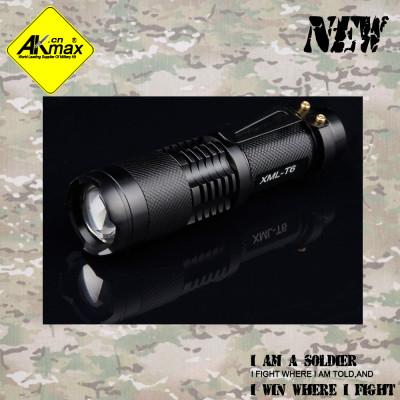Akmax high quality LED flashlight Mini zoom flashlight